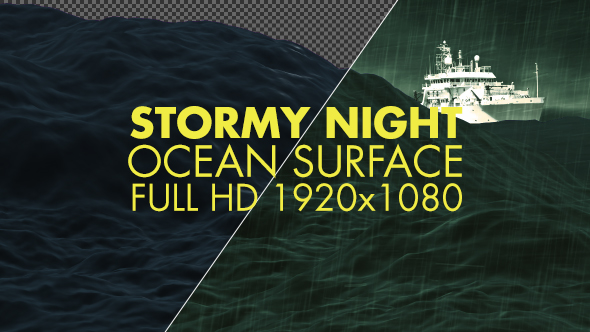 Rough night ocean surface by filmoverlay videohive play preview video thecheapjerseys Images
