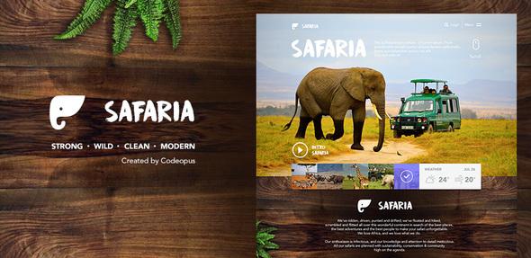Safaria – Responsive Safari Template