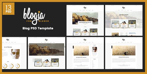 Blogia - Blog PSD Template - PSD Templates