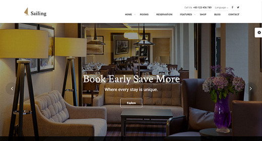 WordPress Hotel Responsive Theme