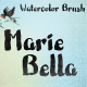 Marie Bella Brush Font - GraphicRiver Item for Sale