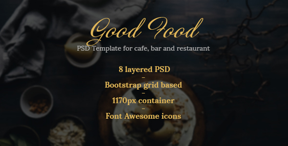 Good Food – PSD Template for Cafe, Bar and Restaurant