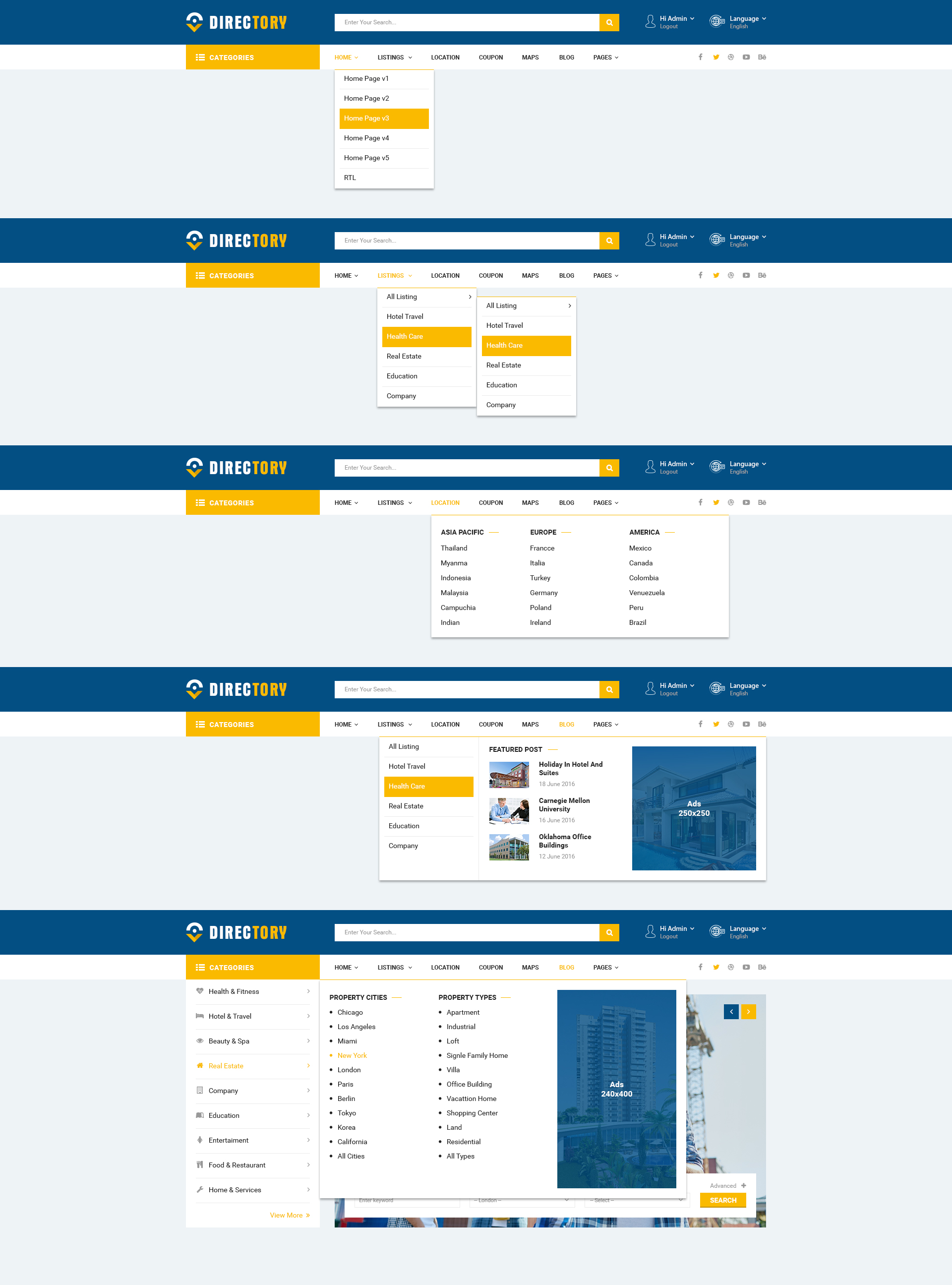 directory directory and listings psd template by toppsd