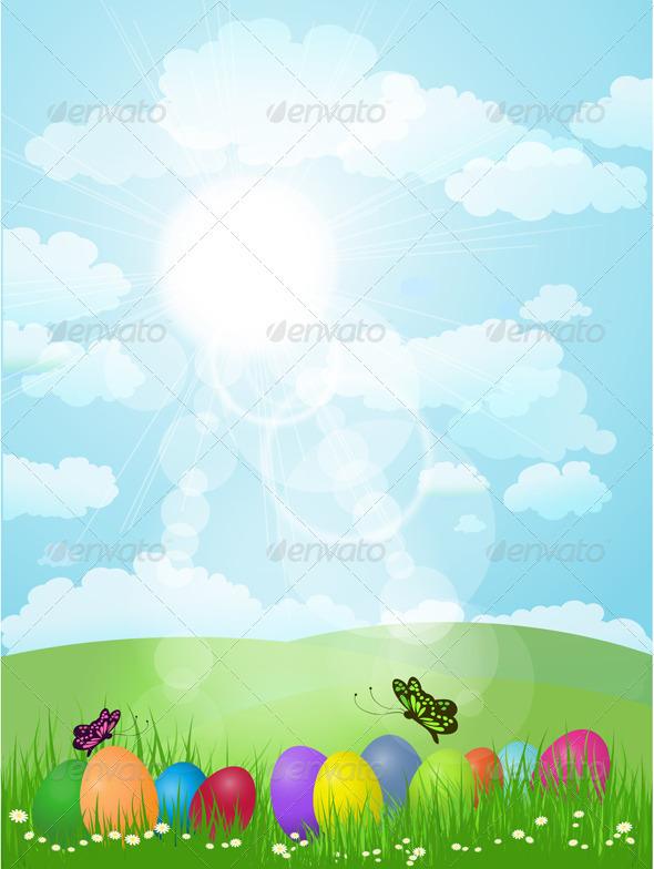 Easter Egg background - Seasons/Holidays Conceptual
