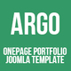 Argo | OnePage Bootstrap Metro UI Joomla template - ThemeForest Item for Sale