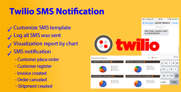 Magento 2 Twilio SMS Notification - CodeCanyon Item for Sale