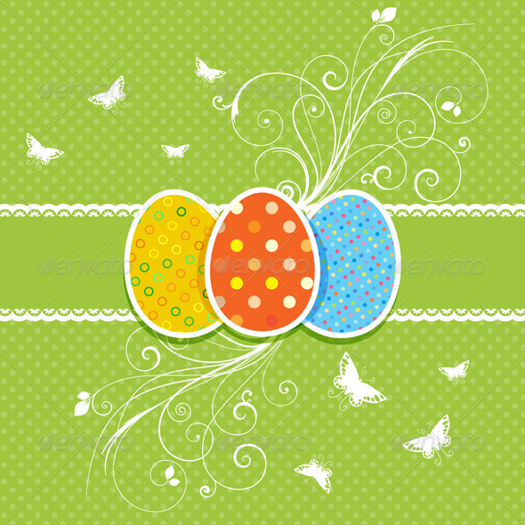 Decorative Easter Egg background - Seasons/Holidays Conceptual