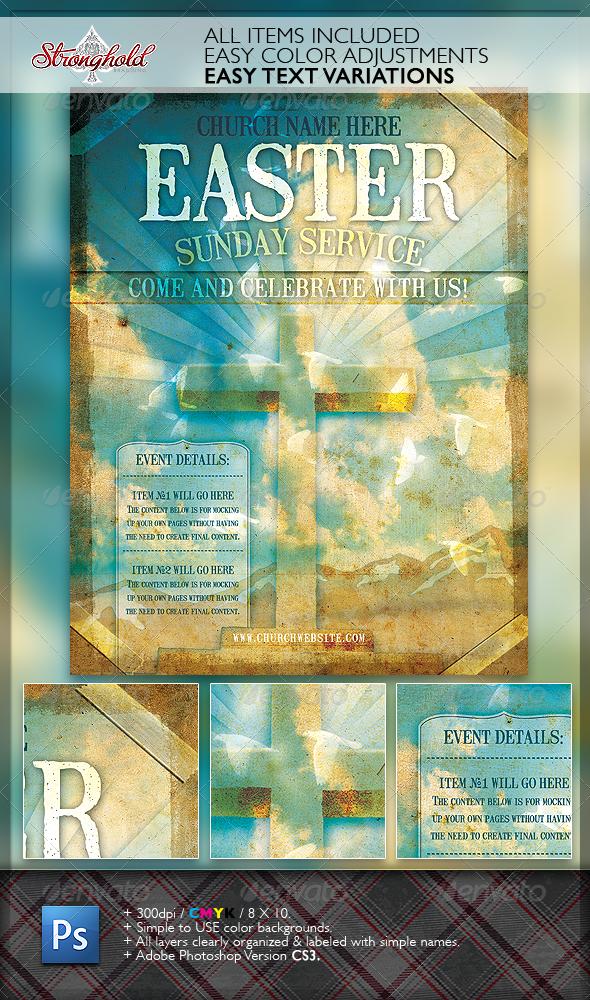 Church Service Event Flyer Template - Church Flyers
