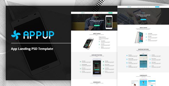 APPUP – App Landing PSD Template