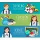 Set Horizontal Banners With School Supplies - GraphicRiver Item for Sale