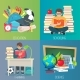 Back To School Education Banner Set - GraphicRiver Item for Sale