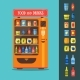 Vending Machine With Food And Drink Packaging Set - GraphicRiver Item for Sale
