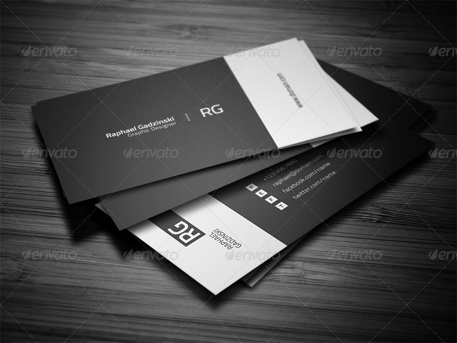 Simple Business Card by FlowPixels | GraphicRiver