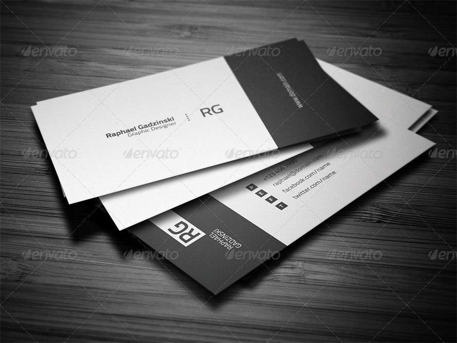 Simple Business Card By FlowPixels GraphicRiver - Personal business cards template