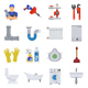 Plumbing Service Flat Icons Set - GraphicRiver Item for Sale