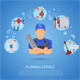 Plumbing Service Concept - GraphicRiver Item for Sale