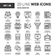 Digital Marketing Flat Line Web Icons - GraphicRiver Item for Sale