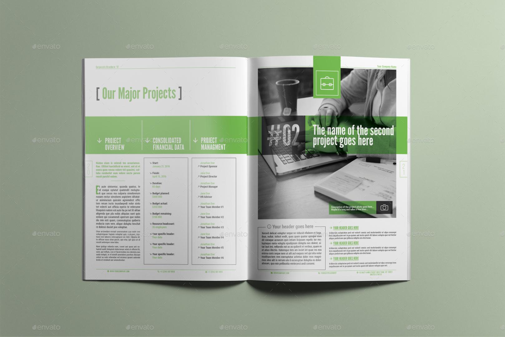 membership brochure template - corporate brochure company profile multipurpose template