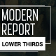 Modern Report Lower Thirds - VideoHive Item for Sale
