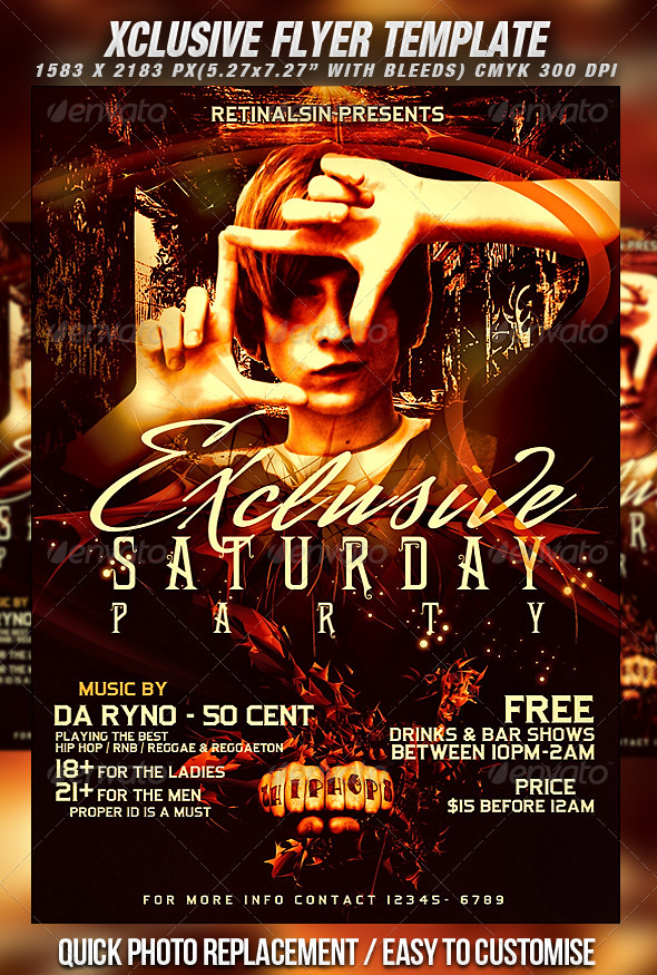 Xclusive Flyer Template - Clubs & Parties Events