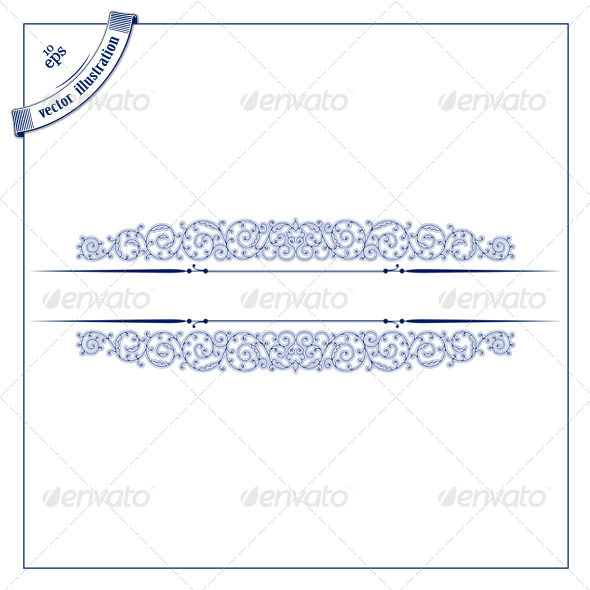 Antique Retro Lace Border - Borders Decorative