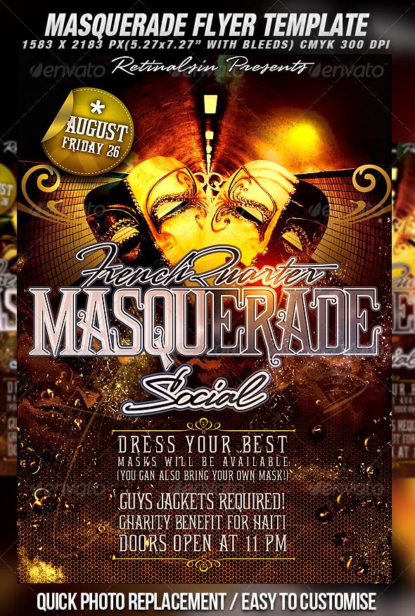 masquerade flyer template elita aisushi co