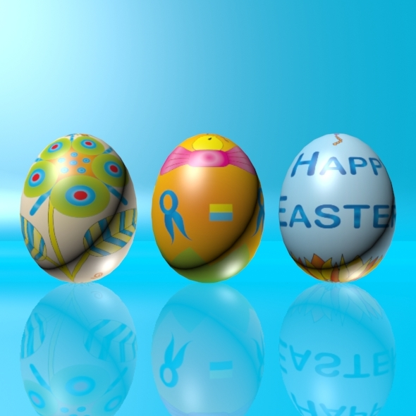 Easter Eggs Set 02 - 3DOcean Item for Sale