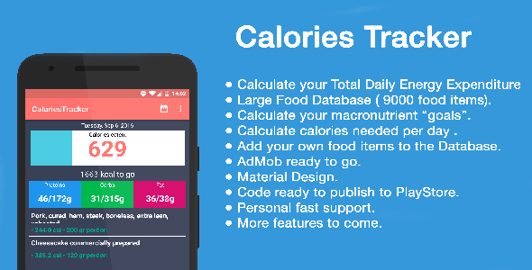 Eaten Calorie Tracker + admob - CodeCanyon Item for Sale