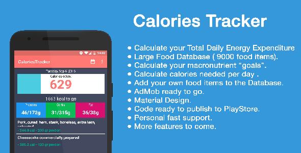 Macros & Calories Tracker + admob - CodeCanyon Item for Sale