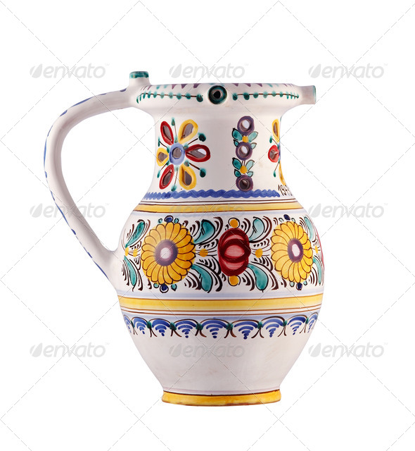 earthenware jar - Stock Photo - Images