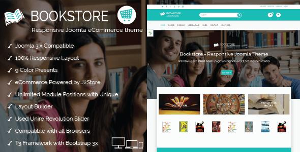 Book Store – Responsive Joomla eCommerce Theme