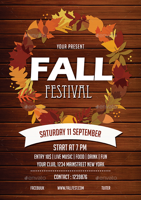 Marvelous Fall Festival Flier