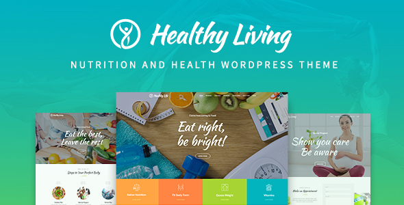 Healthy Living - Nutrition, Weight Loss and Wellness WordPress Theme
