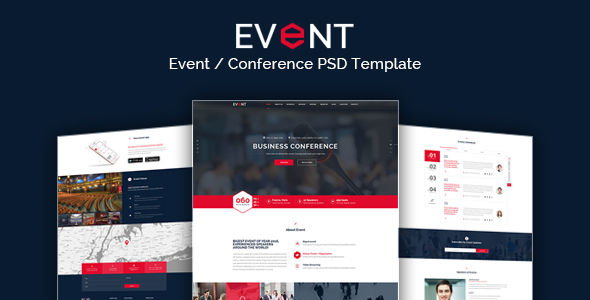 EVENT – Conference and Event PSD Template