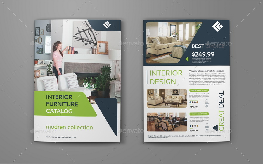 Products Catalogs BiFold Brochure Template Vol By Owpictures