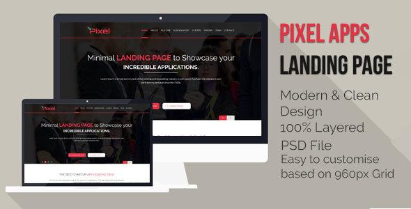 App Landing Page PSD - PSD Templates