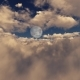 Flight Through Clouds To The Full Moon - VideoHive Item for Sale