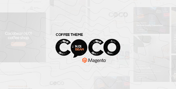 Cocobean - Responsive Coffee Magento 1 and Magento 2 Theme