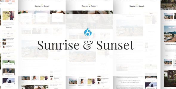 Sunrise & Sunset – Personal & Magazine Drupal 8 Theme