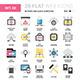Network and Cloud Computing Flat Web Icons  - GraphicRiver Item for Sale