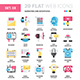 Marketing and Advertising Flat Web Icons  - GraphicRiver Item for Sale