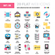 Data Organization and Management Flat Icons  - GraphicRiver Item for Sale
