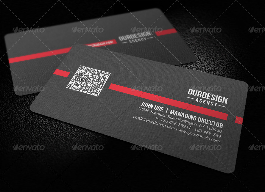 Rounded Corner QR Code Business Card by glenngoh | GraphicRiver