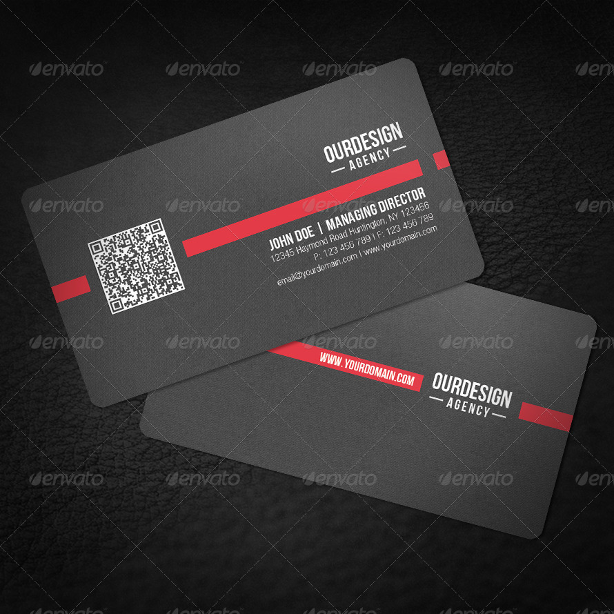 rounded corner qr code business card corporate business cards 01_rounded_qrcode_red_1jpg 02_rounded_qrcode_red_2jpg - Qr Code Business Card