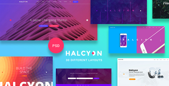 Halcyon - Multipurpose Modern Website PSD Template - Business Corporate