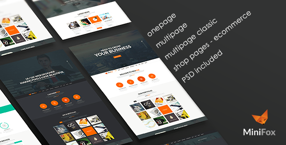 Minifox – Responsive Multi-Purpose WordPress Theme
