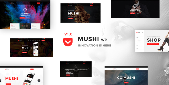 Mushi – Responsive Multi-Purpose WordPress Theme
