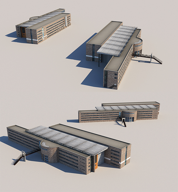 Lowpoly Town Hall - 3DOcean Item for Sale