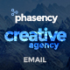 Phasency Creative Agency E-Newsletter PSD Template - GraphicRiver Item for Sale