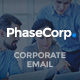 PhaseCorp - Corporate E-Newsletter PSD Template - GraphicRiver Item for Sale